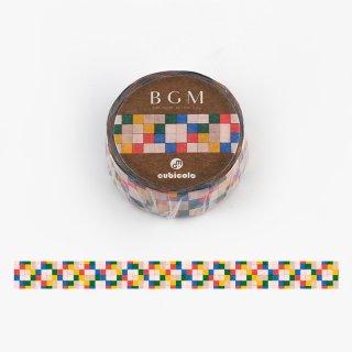 【BGMxクビコロ】コラボレーション「cubicolo04」15mm マスキングテープ
