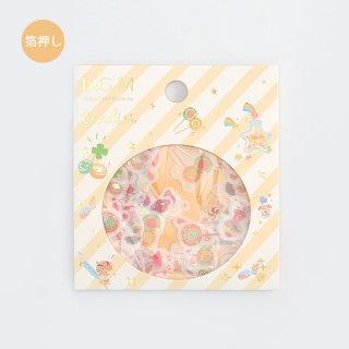 フレークシール【 ハッピーキャンディ 】15デザインx3 枚