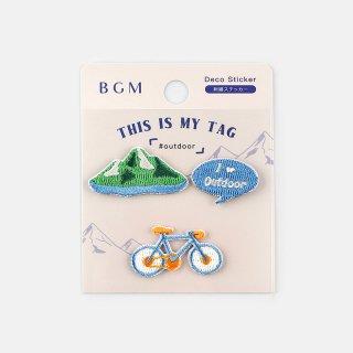 BGM 刺繍ステッカー「 マイタグ・アウトドア 」