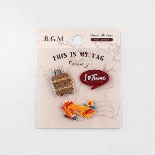 BGM 刺繍ステッカー「 マイタグ・旅行 」