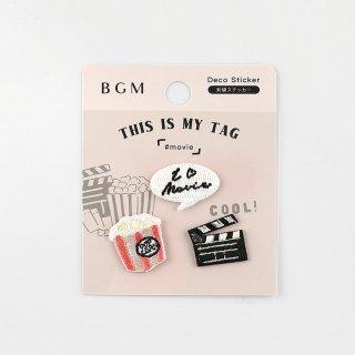 BGM 刺繍ステッカー「 マイタグ・映画 」