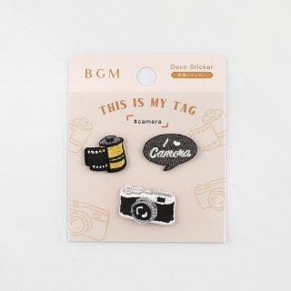 BGM 刺繍ステッカー「 マイタグ・カメラ 」