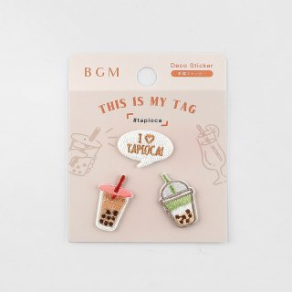 BGM 刺繍ステッカー「 マイタグ・タピオカ 」