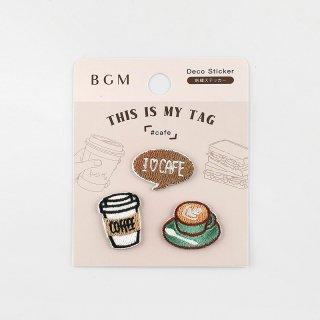 BGM 刺繍ステッカー「 マイタグ・カフェ 」