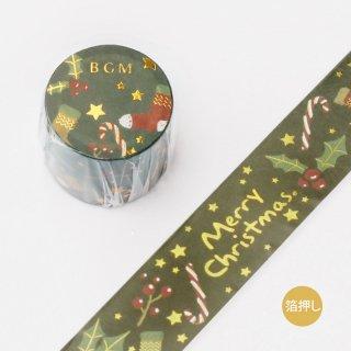 マスキングテープ【2019クリスマス・数量限定 クリスマス・夜】30mm