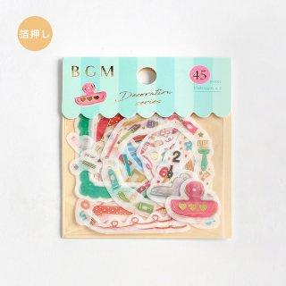 フレークシール【 デコレーション・文具】15デザインx3 枚