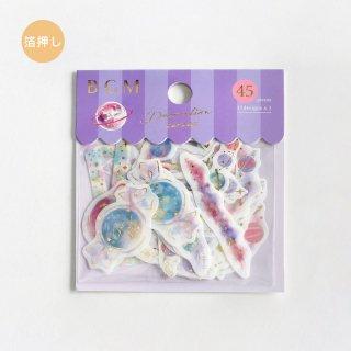 フレークシール【 デコレーション・プラネット】15デザインx3 枚