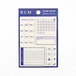 """クリアスタンプ """"記録"""" 【マンスリー 】<img class='new_mark_img2' src='https://img.shop-pro.jp/img/new/icons13.gif' style='border:none;display:inline;margin:0px;padding:0px;width:auto;' />"""