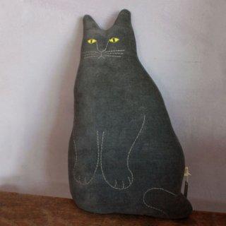 tomotake 動物クッション 黒ネコ