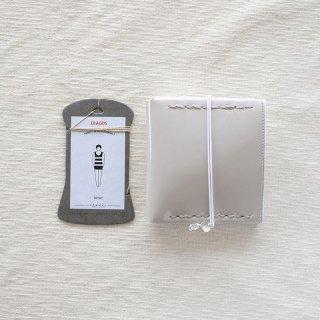 [eb.a.gos] エバゴス 二つ折りサイフ(ガラス)GY