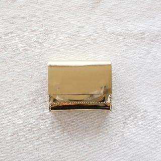 [eb.a.gos] エバゴス ミラーメタリック 三つ折り財布(GOLD)