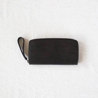 [eb.a.gos] エバゴス オイルショルダーレザー ファスナー長財布(BLACK)