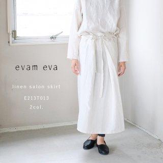 evam eva E213T013 エバムエバ リネンサロンスカート