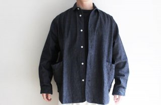 <img class='new_mark_img1' src='https://img.shop-pro.jp/img/new/icons3.gif' style='border:none;display:inline;margin:0px;padding:0px;width:auto;' />SIDE POCKET SHIRTS-RIP STOP DENIM(NAVY)