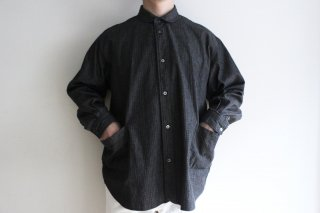 <img class='new_mark_img1' src='https://img.shop-pro.jp/img/new/icons3.gif' style='border:none;display:inline;margin:0px;padding:0px;width:auto;' />SIDE POCKET SHIRTS-RIP STOP DENIM(BLACK)