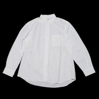 REGULAR FIT GATHER SHIRTS-CHAMBRAY(WHITE)