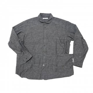 <img class='new_mark_img1' src='https://img.shop-pro.jp/img/new/icons3.gif' style='border:none;display:inline;margin:0px;padding:0px;width:auto;' />SIDE POCKET SHIRTS-CHAMBRAY(BLACK)