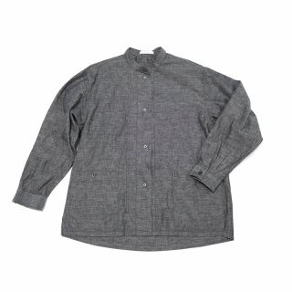 <img class='new_mark_img1' src='https://img.shop-pro.jp/img/new/icons3.gif' style='border:none;display:inline;margin:0px;padding:0px;width:auto;' />CP GATHER  SHIRTS-CHAMBRAY(BLACK)