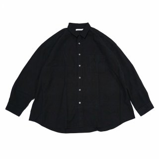 REGULAR WIDE SHIRTS-OXFORD CHECK(BLACK)