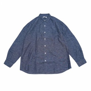<img class='new_mark_img1' src='https://img.shop-pro.jp/img/new/icons3.gif' style='border:none;display:inline;margin:0px;padding:0px;width:auto;' />REGULAR FIT GATHER SHIRTS-CHAMBRAY(BLUE)