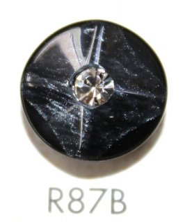 ラインストーンボタン R87B