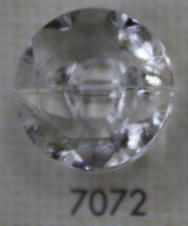 クリアーボタン トンネル足 透明 7072