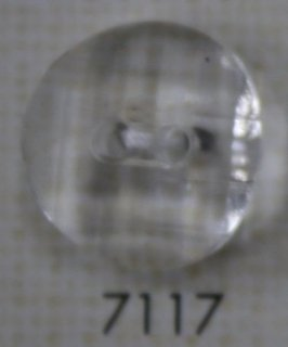 クリアーボタン 二つ穴 透明 7117