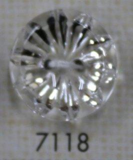 クリアーボタン 二つ穴 透明 7118