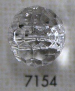 クリアーボタン トンネル足 透明 丸型 7154