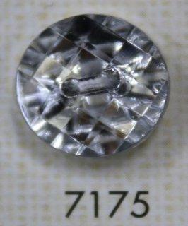 クリアーボタン 二つ穴 シルバー 7175