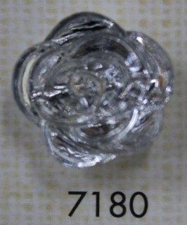 クリアーボタン トンネル足 透明 フラワー型 7180