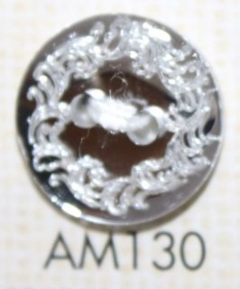 プラスチックボタン ミラー・透明・半透明 AM130