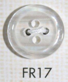 プラスチックボタン ミラー・透明・半透明 FR17