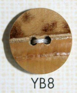 竹ボタン 二つ穴(木ボタン) YB8