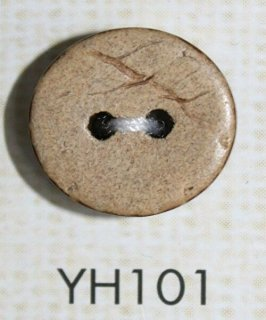 ココナッツボタン 二つ穴(木ボタン) YH101