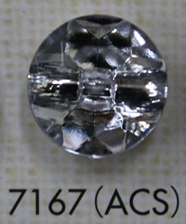 クリアーボタン トンネル足 透明 7167(ACS)