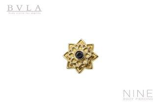 Sol Flower (YG/Black CZ)