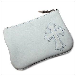 クロムハーツ 財布(Chrome Hearts)ジッパーチェンジパース4×5パイピング セメタリー ブルーグレー ヌバックレザー【クロム・ハーツ】【クロムハーツ財布】【名古屋】
