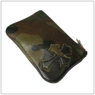 クロムハーツ 財布(Chrome Hearts)ジッパーチェンジパース 4×5 パイピングセメタリー タンクカモレザーウォレット【クロム・ハーツ】【クロムハーツ財布】【名古屋】