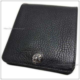 クロムハーツ 財布(Chrome Hearts)ワンスナップ クロスボタンブラック ヘビーレザーウォレット【クロム・ハーツ】【クロムハーツ財布】【名古屋】
