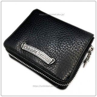 クロムハーツ 財布(Chrome Hearts)スクエア ジップ ビル ブラックレザーウォレット【クロム・ハーツ】【クロムハーツ財布】【名古屋】