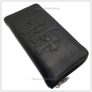 クロムハーツ 財布(Chrome Hearts)REC F ZIP #2 3セメタリークロスパッチ ブラック ヘビーレザー【クロム・ハーツ】【クロムハーツ財布】【名古屋】