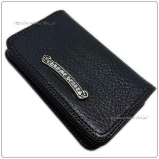 クロムハーツ 財布(Chrome Hearts)カードケース #2 グロメット / スクロール ブラック ヘビー レザー ウォレット【クロム・ハーツ】【クロムハーツ財布】【名古屋】