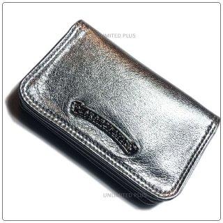 クロムハーツ 財布(Chrome Hearts)カードケース#2 グロメット/スクロール メタリックシルバー ヘビーレザーウォレット【クロム・ハーツ】【クロムハーツ財布】【名古屋】