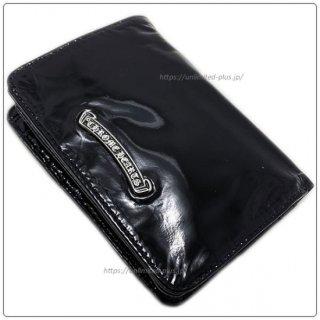 クロムハーツ 財布(Chrome Hearts)ジョーイ ブラック パテント レザー ウォレット (海外限定レザー/リミテッドレザー)【クロム・ハーツ】【クロムハーツ財布】【名古屋】