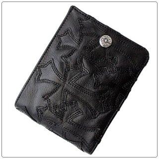 クロムハーツ 財布(Chrome Hearts)ウォレット キャッシング イン ブラック ヘビーレザー(メンズ)セメタリーパッチ【クロム・ハーツ】【クロムハーツ財布】【名古屋】