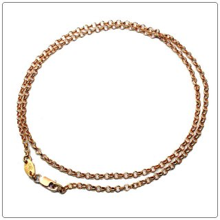 クロムハーツ(Chrome Hearts)ネックレス チェーン 22Kゴールド ロールチェーン 16インチ(約40cm) (ネックレス)【クロム・ハーツ】【クロムハーツ財布】【名古屋】