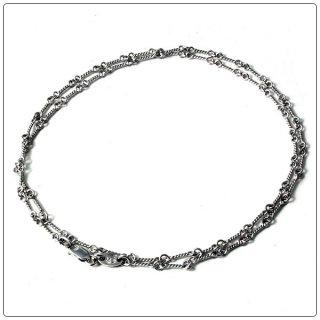 クロムハーツ(Chrome Hearts)ネックレス チェーン 18Kホワイトゴールドツイスト 24インチ(約60cm) (ネックレス)【クロム・ハーツ】【クロムハーツ財布】【名古屋】