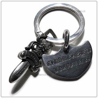 クロムハーツ(Chrome Hearts)キーリング シールドLA ウィズ スプリット #5ダガー 【クロム・ハーツ】【クロムハーツ財布】【名古屋】