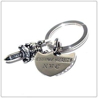 クロムハーツ(Chrome Hearts)キーリング シールドNYC ウィズ スプリット #5ダガー 【クロム・ハーツ】【クロムハーツ財布】【名古屋】